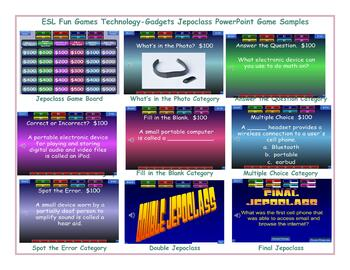Technology-Gadgets Jeopardy PowerPoint Game