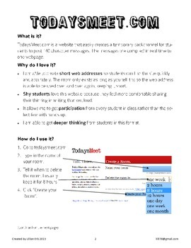 Technology Helpers: Learn and Use TodaysMeet.com