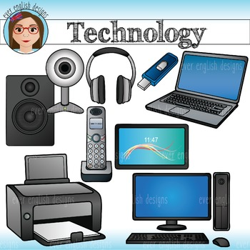 Technology- Home and Computer Clip Art
