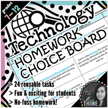 Technology Homework Choice Board