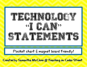 Technology I Can Statements