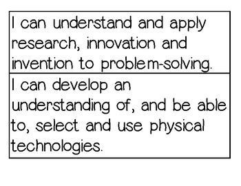 Technology I Can Statements (Benchmarks) Ohio 6-8