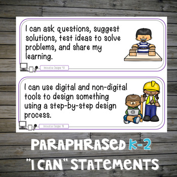 Technology I Can Statements and ISTE Standards Posters for the Computer Lab