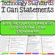 Technology I Can Statements for Grades 3-5 - Tech Decor Theme