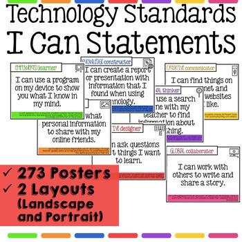Technology I Can Statements for Grades K-8 BUNDLE - Tech Decor Theme
