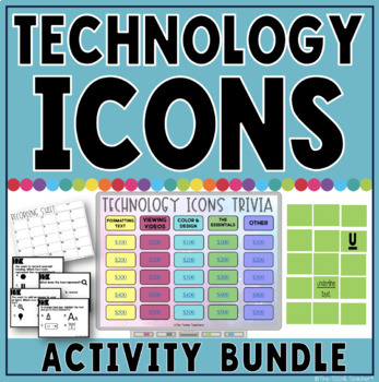Technology Icons Activity Bundle