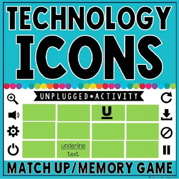 Technology Icons: Match Up/Memory Game