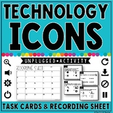 Technology Icons: Task Cards & Recording Sheet