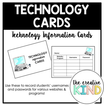 Technology Information Cards