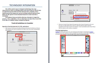 Technology INTEGRATION: Tools, Guidelines, Ideas for Using Technology