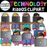 Technology Kiddos Clip Art {Kids using Technology}