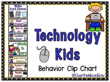 Technology Kids Behavior Clip Chart