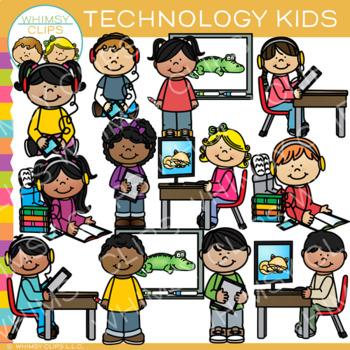 Technology Kids Clip Art