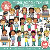 Technology Kids Clip Art – Middle School / Teen (STEM Series)