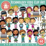 Technology Kids Clip Art – Young Kids (STEM series)