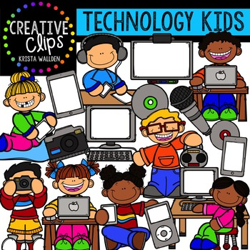 Technology Kids {Creative Clips Digital Clipart}