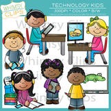 Technology Kids & Internet Safety Clip Art Bundle