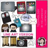 Technology clip art - LINE ART - by Melonheadz