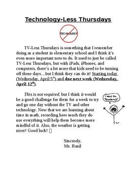 Technology-Less Thursdays