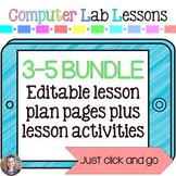 Technology Lesson Plans and Activities Grades 3-5 Mini Bundle