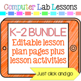 Technology Lesson Plans and Activities Grades K-2 Bundle 1 Year Subscription