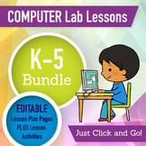 Technology Lesson Plans and Activities Grades K-5 Bundle