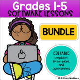 Technology Lessons Bundle for Grades 1-5 | Spiral Review