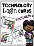 {Editable} Technology Login Cards