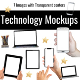 Laptop Mockup for TpT Sellers: Realistic Clipart
