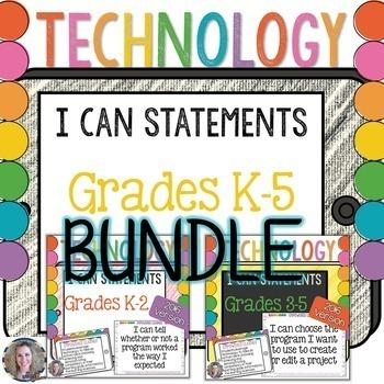 Technology I Can Statements K-5 BUNDLE