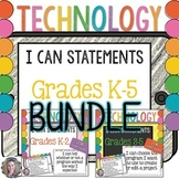 Technology I Can Statements K-5 BUNDLE