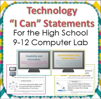 Technology I Can Statements for grades 9-12