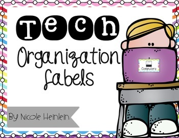 Technology Organizational Labels - Color and Ink-Saving Black & White