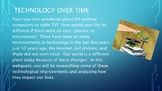 Technology Over Time Webquest