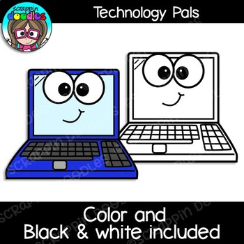 Technology Pals Clipart {Scrappin Doodles Clipart}