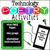 Technology Poetry Activities, Technology Inspired Poetry Centers