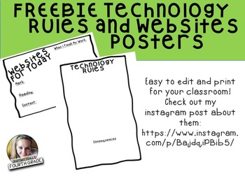 Technology Posters FREEBIE