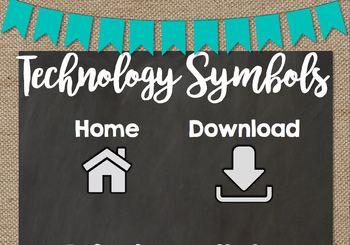Technology Procedure Anchor Charts *Chalkboard Chic*