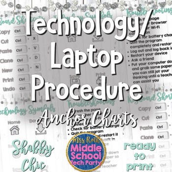 3 Technology Anchor Charts *Shabby Chic*