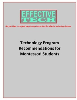Technology Program Recommendations for Montessori Students