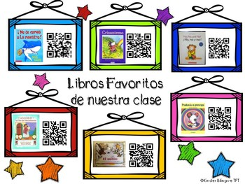 Technology QR codes in Spanish plus comprehension questions Libros Favoritos
