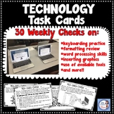 Technology Test Prep:  Keyboarding practice quick checks! (Yearlong set of 30!)