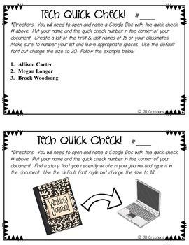 Technology Test Prep:  Keyboarding practice quick checks! (Yearlong set of 30!)