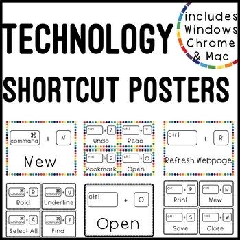 Computer Shortcut Poster Set (Mac & PC)