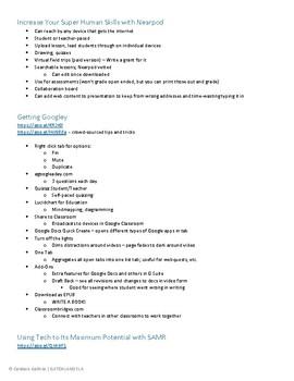 Technology Resources (Links w/ Descriptions!)
