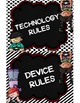 Technology Rule Posters {Black and White Backgrounds}