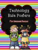 Technology Rule Posters {Color Backgrounds}