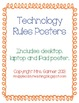 Technology Rule Posters - iPad, Laptop, Desktop Computer - Will Customize!