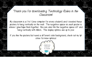 Technology Rule posters for the Classroom