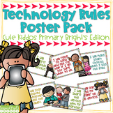 Technology Rules Poster Pack - Cute Kiddos Primary Brights